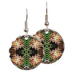 Brown Green Abstract Earrings #cafepress #earrings #jewelry