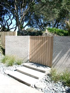 Shell wall with timber gate
