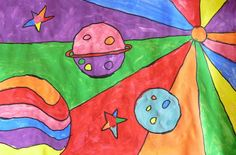 peter max outer space drawing art project | These were done with my long term sub. Although I can not take credit ...