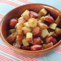 Simple Hot Dog and Potato Hash. My son really like this recipe!!! Quick and easy to make.
