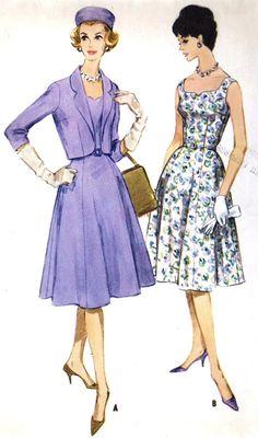 1950s Misses Summer Dress and Bolero