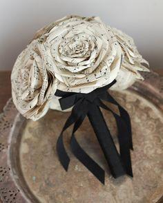 sheet music paper wedding bouquet