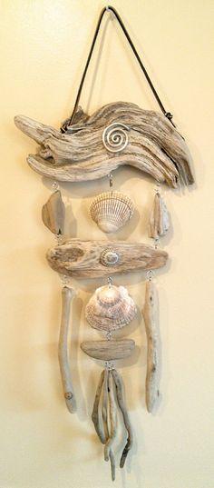 Seashell Projects, Driftwood Projects, Seashell Crafts, Beach Crafts, Driftwood Furniture, Driftwood Wall Art, Driftwood Sculpture, Sea Glass Decor, Sea Glass Crafts