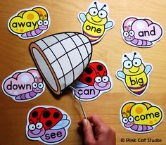 Practice sight words with this fun and engaging Catch the Bug game! The teacher calls out a sight word and the first student to slap their net on the bug with that word collects that bug. The student with the largest pile of bugs at the end of the game, wins!
