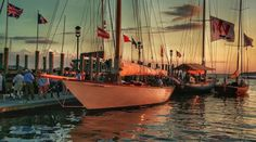 Late August Sunset. 2016 Marilee. Wild Horses. Race Horse. Herreshoff Museum Classic Regatta Bristol. Rhode Island. USA.  'Yachting is the Winner' (tm)