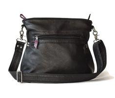 CoPilot Bag  Black Leather  adjustable leather by FlyGirlShop, $210.00