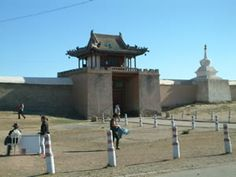 Mongolia. Outside Erdene Zuu Khiid monastery