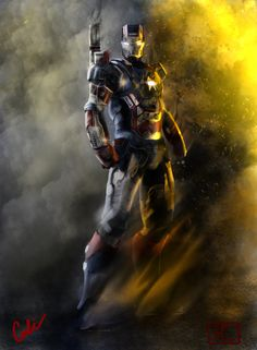 Iron Patriot by Heycali.deviantart.com on @deviantART