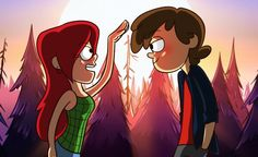 Dipper, you really grew up. by cracket on deviantART - Dipper Pines, Wendy Corduroy - Gravity Falls Dipper Y Wendy, Dipper Y Mabel, Dipper Pines, Gravity Falls Anime, Gravity Falls Dipper, Gravity Falls Comics, Dipcifica, Pinecest, Lapidot