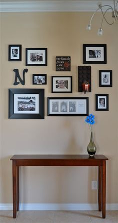 Photo collage wall home harmony pinterest photo collage walls collage walls and photo - Wall collage ideas living room ...