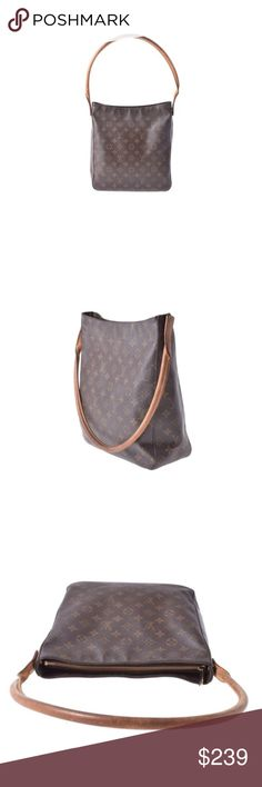 Authentic monogram Louis Vuitton looping GM bag Authentic and beautiful bag with minor wear. See photos for details. This bag is priced to sell! Louis Vuitton Bags