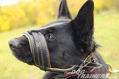 Loop-like Royal Nappa Padded #Leather #Dog #Muzzle - $79.00 | www.fordogtrainers.com