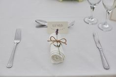 Lavender Twine Place Setting Name Country Marquee Wedding https://www.fullerphotographyweddings.co.uk/