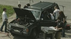 """Two weeks of rehearsals and seven hours of filming resulted in this well-orchestrated and awesomely entertaining video. All of the sounds come directly from the Jeep, and everyone in the video has a specific sound to make. The result is a wicked techno sound that takes the idea of the """"art car"""" to a whole new level."""