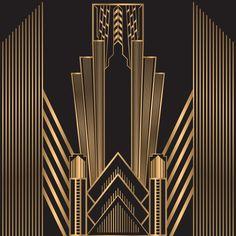 Casa Art Deco, Arte Art Deco, Estilo Art Deco, Wallpaper Art Deco, Art Deco Artwork, Art Deco Posters, Motifs Art Nouveau, Motif Art Deco, Art Deco Design