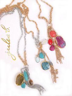 #julesdujour #jewelryoftheday #soprecioussemiprecious #tasslenecks #trendalert #obsession #julesbjewelry