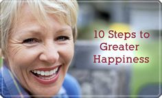 10 steps to being a happier you!