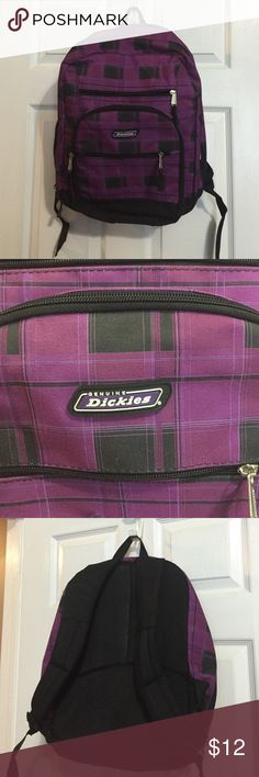 Backpack plaid, Dickies brand Backpack, purple & black plaid. Great shape. Perfect for school. Dickies brand. Dickies Bags Backpacks