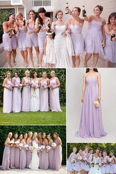 orchid tint lilac bridesmaid dresses trends for spring summer wedding 2015