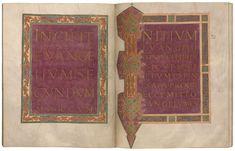 Incipit Page to Mark Carolingian, Morgan Library, Museum, Museums