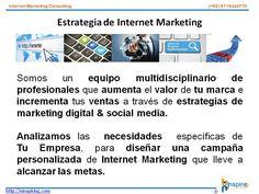 Somos un equipo multidisciplinario de profesionales que aumenta el valor de tu marca e incrementa tus ventas a través de estrategias de marketing digital & social media.   Analizamos las necesidades específicas de Tu Empresa, para diseñar una campaña personalizada de Internet Marketing que lleve a alcanzar las metas.   http://uinspiring.com/
