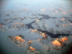 Greenland mountains & fjord by Frank Sanders on flickr