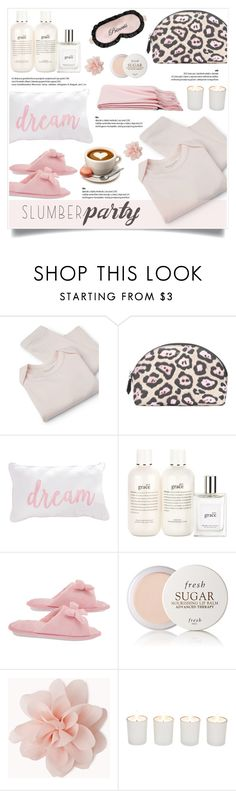 """""""Sleep on It! Slumber Party Style"""" by helenevlacho ❤ liked on Polyvore featuring MANGO, Givenchy, philosophy, Mary Green, Fresh, Forever 21, Witchery, contestentry and slumberparty"""