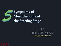 MESOTHELIOMA INSIGHT: 5 Symptoms of Mesothelioma at Early Stage
