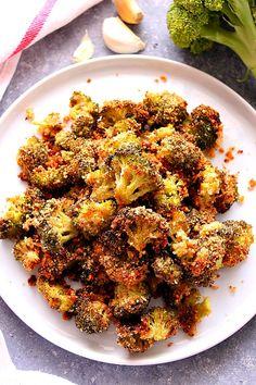 roasted broccoli 2a Garlic Parmesan Roasted Broccoli Recipe