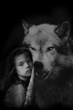 """littleredridemgood: """"~~ Little Girls ~~ """" Shhh…. C'mere Wolfie …. I'm not afraid"""