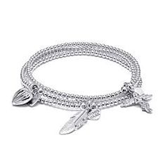 A three strand sterling silver charm bracelet stack featuring your favourite signature Annie Haak Bracelets and lots of heart charms. Stackable Bracelets, Love Bracelets, Sterling Silver Charm Bracelet, Silver Charms, Silver Dip, Everyday Items, Heart Bracelet, Bracelet Sizes, Heart Charm