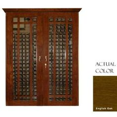 Vinotemp Vino-700grid-engoak 440 Bottle Grid Style Wine Cellar With Cornice - Glass Doors / English Oak Cabinet by Vinotemp. $6049.00. Vinotemp VINO-700GRID-ENGOAK 440 Bottle Grid Style Wine Cellar With Cornice - Glass Doors / English Oak Cabinet. VINO-700GRID-ENGOAK. Wine Cellars. The Vinotemp grid-style Wine Cellar features a modern looking glass door design. This unit features unique glass doors that conceal a grid-style storage layout interior. With the cornice included, th...