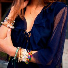 lots of bracelets