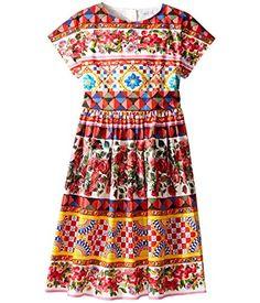 Dolce & Gabbana Kids D&G Girl's Mambo Short Sleeve Poplin Dress
