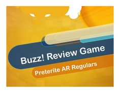 BUZZ (Zumbido in Spanish) is an easy review game for any verb tense, vocabulary…