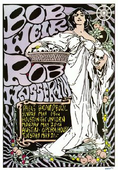 Original poster for Bob Weir and Rob Wasserman in Texas in 1990. Artwork by Kozik. 11 x 17 inches. Signed and dated by artist Frank Kozik.      List Price: $60.00