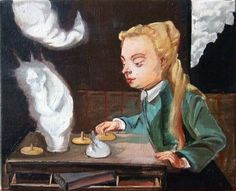 Rosa Loy (*1958 in Zwickau), 2010, casein on canvas, 24 x 30 cm
