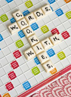 Game Night Party - Food/Decor - Scrabble Cookies