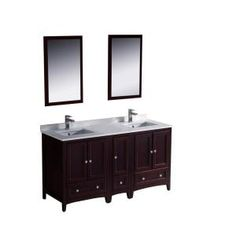 Design Element Moscony 60 in. W x 22 in. D Double Vanity Espresso ...