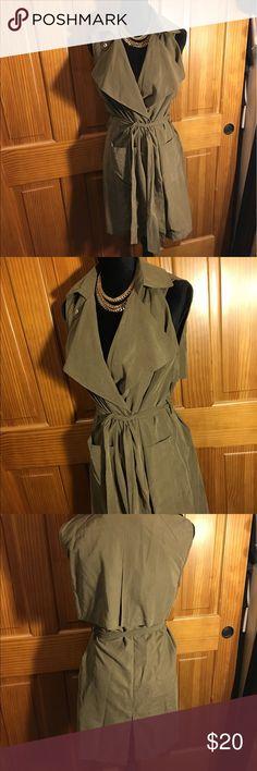 Olive green vest Olive green vest, new with tags Jackets & Coats Vests