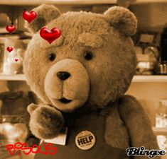 Stylowi.pl - Odkrywaj, kolekcjonuj, kupuj Good Night Gif, Good Morning Gif, Teddy Bear Cartoon, Cute Teddy Bears, Gif Mignon, Bisous Gif, Minion Gif, Cute Love Wallpapers, Bear Gif