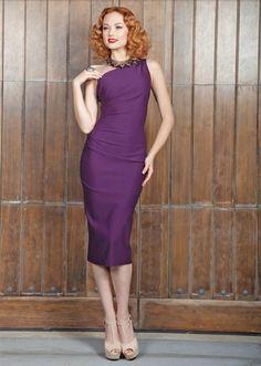 Gathered Ava Eggplant Dress ... OMG I Love this dress!!!