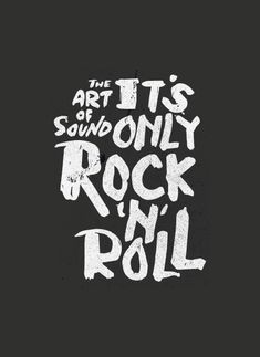 It's Only Rock 'N' Roll on Behance Calligraphy Letters, Typography Letters, Graphic Design Typography, Lettering, Design Poster, Rock N Roll, Behance, Design Inspiration, Jingle Bells