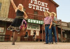 Spend some time kicked back with a stiff sarsaparilla enjoying the genuine Western hospitality of local cow towns, and have a gunslingin' good time at an Old West main street replica.