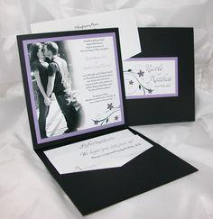 Photo Pocketfold Wedding Invitation Sample by paperstudioca