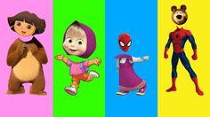 Cabeças Trocadas com Homem Aranha, Dora, Masha e o Urso para Crianças