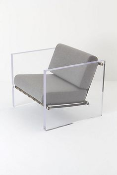 Anthropologie Hainsworth Chair ++ wool, lucite and brass Lucite Furniture, Acrylic Furniture, Iron Furniture, Find Furniture, Unique Furniture, Home Furniture, Furniture Design, Acrylic Chair, Furniture Stores