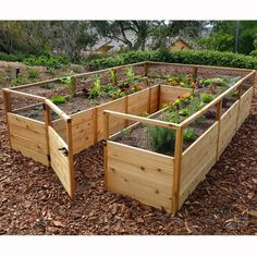 8 ft x 12 ft Western Red Cedar Raised Garden