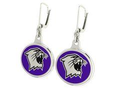 Northwestern Wildcats Silver Earrings