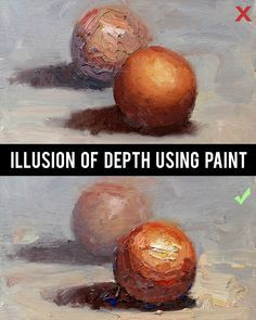 Quick tip: When painting you can make something appear closer by using thicker paint to create texture.
